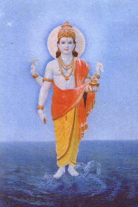 Ayurveda_origins_Dhanvantari